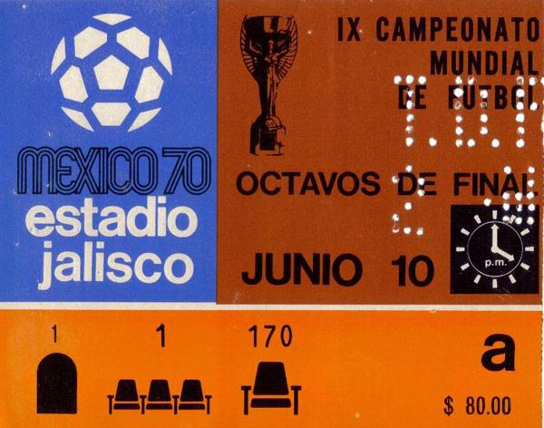 1970 WC Ticket - Brazil v Romania