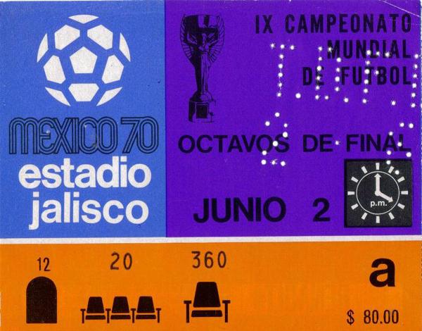 1970 WC Ticket - England v Romania (Used)