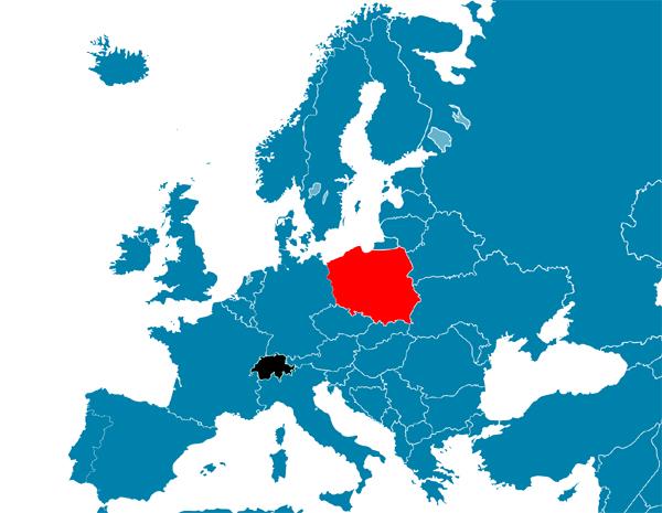 Poland_Switzerland_Locator